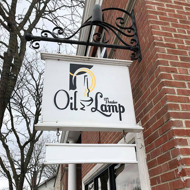 Oil Lamp Theater, Glenview, signage
