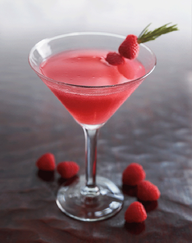 Raspberry Rosemary Cosmo, Ruth's Chris Steak House, Northbrook