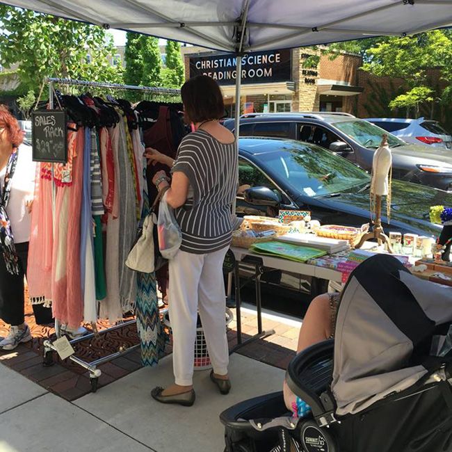 Central Street Sidewalk Sale, Evanston