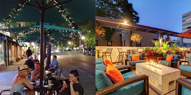 L: Celtic Knot Public House, Evanston; R: Hyatt House Chicago Evanston