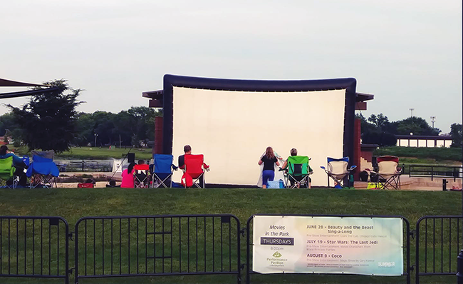 Movies in the Park, Wheeling