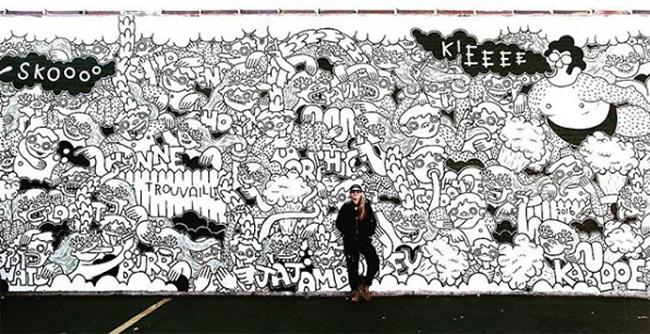 Lauren Asta Mural, 4517 Oakton St., Skokie