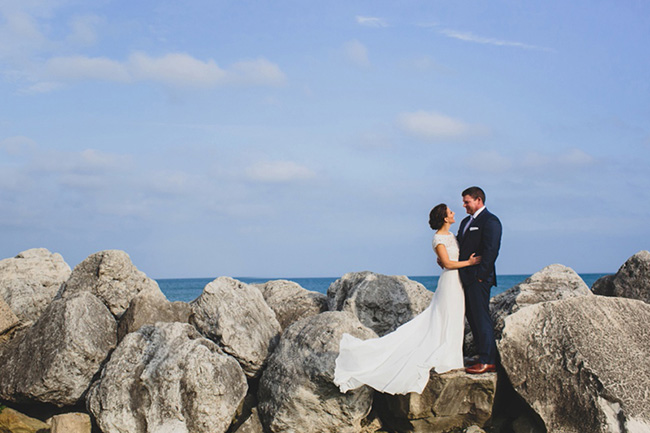 Evanston Lakefront Wedding Photo