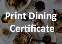 Print Dining Certificate