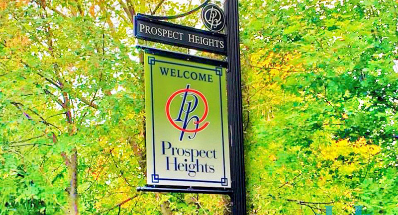 Prospect Heights Welcome Sign