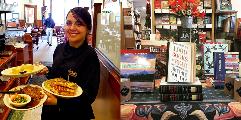 L: Annie's Pancake House, Skokie; R: The Book Stall, Winnetka