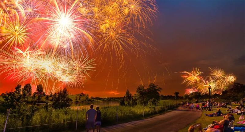 4th of July Fireworks, Glenview; Photo: Michael Lee