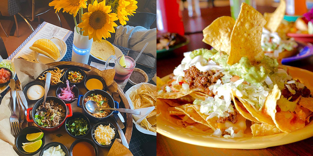 L: Uncle Julio's, Westfield Old Orchard, Skokie; R: El Fuego Mexican Cuisine, Skokie