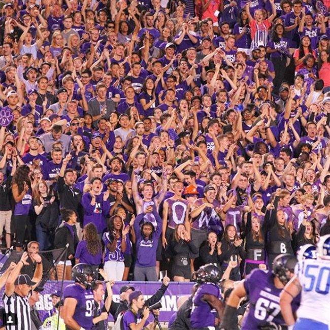 Northwestern University Wildcats fans