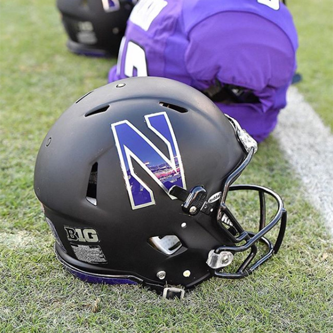 Northwestern University Wildcats helmet
