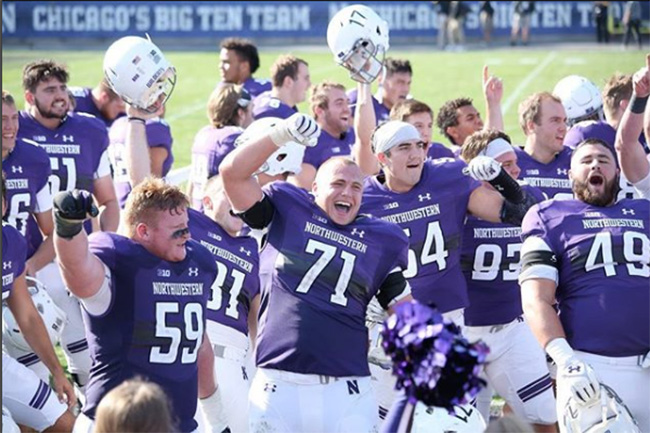 Northwestern University Wildcats win